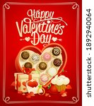 happy valentine's day vector... | Shutterstock .eps vector #1892940064