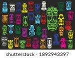 maya's masks. colorful... | Shutterstock .eps vector #1892943397