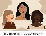 abstract women portraits. boho... | Shutterstock .eps vector #1892950147