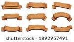wooden banners. rustic... | Shutterstock . vector #1892957491