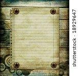 stylish grunge background with blank page - stock photo