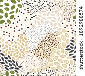 seamless pattern of seeds.... | Shutterstock .eps vector #1892988574