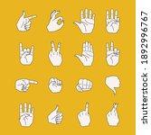 set of different hand gestures... | Shutterstock .eps vector #1892996767
