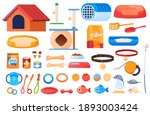 pet goods  huts for cats  a... | Shutterstock .eps vector #1893003424