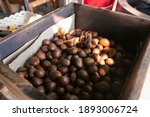 Roasted Chestnuts In Wooden...