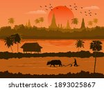 Thailand Sunset View With...