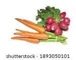 Fresh Vegetables Isolated On...