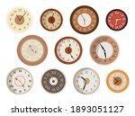 antique clocks face set.... | Shutterstock .eps vector #1893051127