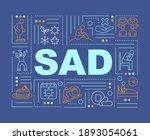 sad word concepts banner....