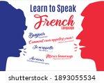 learn to speak french concept....   Shutterstock .eps vector #1893055534