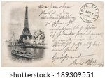 rare vintage postcard with... | Shutterstock . vector #189309551