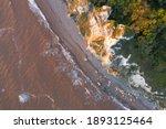 Vertical View Of Forrest Cliffs ...