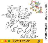 Cute Elegant Unicorn In Dress....