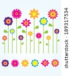 Stock vector a collection of cute and fun vector spring flowers 189317534