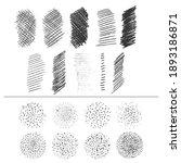 hand drawn crosshatching ... | Shutterstock .eps vector #1893186871