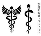 medical snake vector icon  rod... | Shutterstock .eps vector #1893210457
