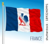 French Flag With Rooster Symbol ...