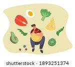 nutrition diet plan.... | Shutterstock .eps vector #1893251374