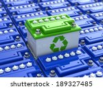Car Battery Recycling. Green...