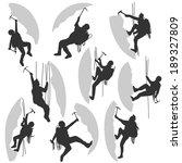 set of vector silhouettes... | Shutterstock .eps vector #189327809