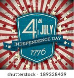 vector independence day badge   ... | Shutterstock .eps vector #189328439