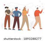 man walking away from friendship | Shutterstock .eps vector #1893288277
