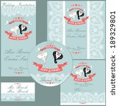 the wedding design template set ... | Shutterstock .eps vector #189329801