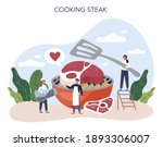 steak. people cooking tasty... | Shutterstock .eps vector #1893306007