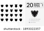 20 glyph shield icons... | Shutterstock .eps vector #1893322357