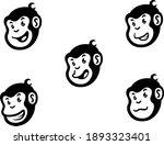 set of head of funny cartoon...   Shutterstock .eps vector #1893323401