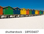 Colorful Beach Huts In A Row...