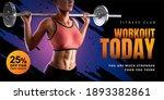 banner ad template for fitness... | Shutterstock . vector #1893382861