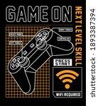 game on. gamer. joystick  boys... | Shutterstock .eps vector #1893387394