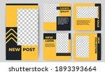 set of editable square banner... | Shutterstock .eps vector #1893393664