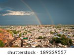 view of jodhpur  blue city ... | Shutterstock . vector #189339557