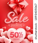 valentine's day sale 50  off... | Shutterstock .eps vector #1893405067