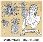 design set with handsome man...   Shutterstock .eps vector #1893412801