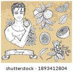 design set with handsome man...   Shutterstock .eps vector #1893412804