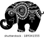 cute little elephant  isolated... | Shutterstock . vector #189341555