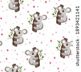 seamless pattern with cute... | Shutterstock .eps vector #1893421141