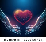abstract nands holding red... | Shutterstock .eps vector #1893436414