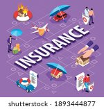 isometric insurance flowchart... | Shutterstock .eps vector #1893444877