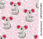seamless pattern with cute... | Shutterstock .eps vector #1893445384