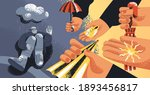 upset man suffering from...   Shutterstock .eps vector #1893456817