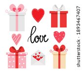 valentine set with four gift... | Shutterstock .eps vector #1893467407