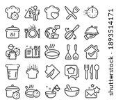cooking line icons. boiling... | Shutterstock .eps vector #1893514171