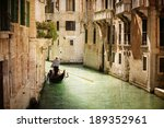 Gondola Travels Down The Canal...