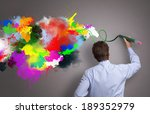 businessman painting abstract... | Shutterstock . vector #189352979