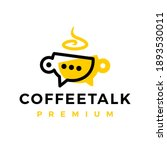coffee talk chat cup logo... | Shutterstock .eps vector #1893530011