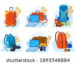 travel luggage  suitcases ...   Shutterstock .eps vector #1893548884